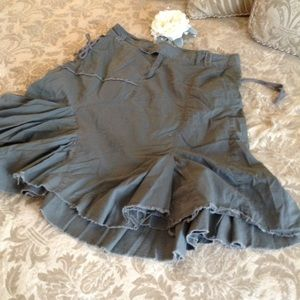 SQUEEZE ARMY GREEN BOHO SKIRT 17